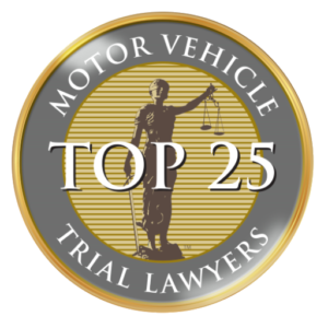 top 25 motor vehicle trial lawyer